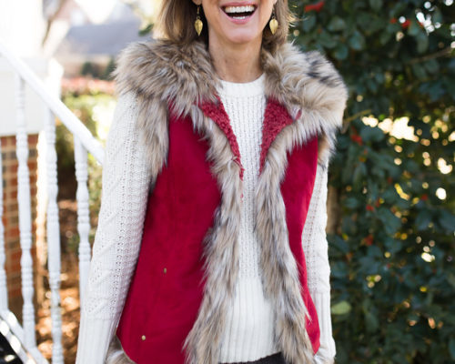 Warm Up with a Fur Trimmed Vest