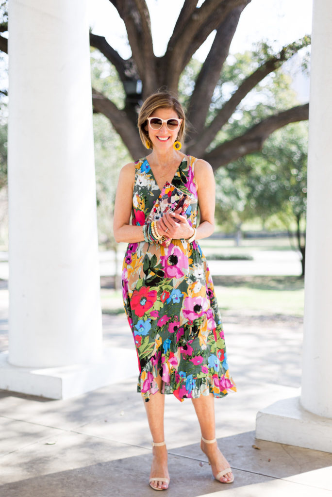 """dallas style blogger"", ""fashion over 50 spring 2018"", ""Easter dress Anthropology under $200"", ""Fashionomics"","