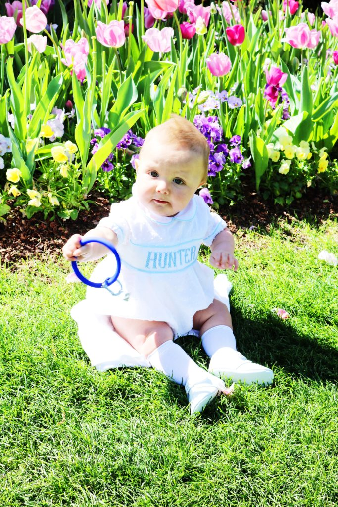 dallas blooms, dallas arboretum, sport O Ring, teething ring, grandson