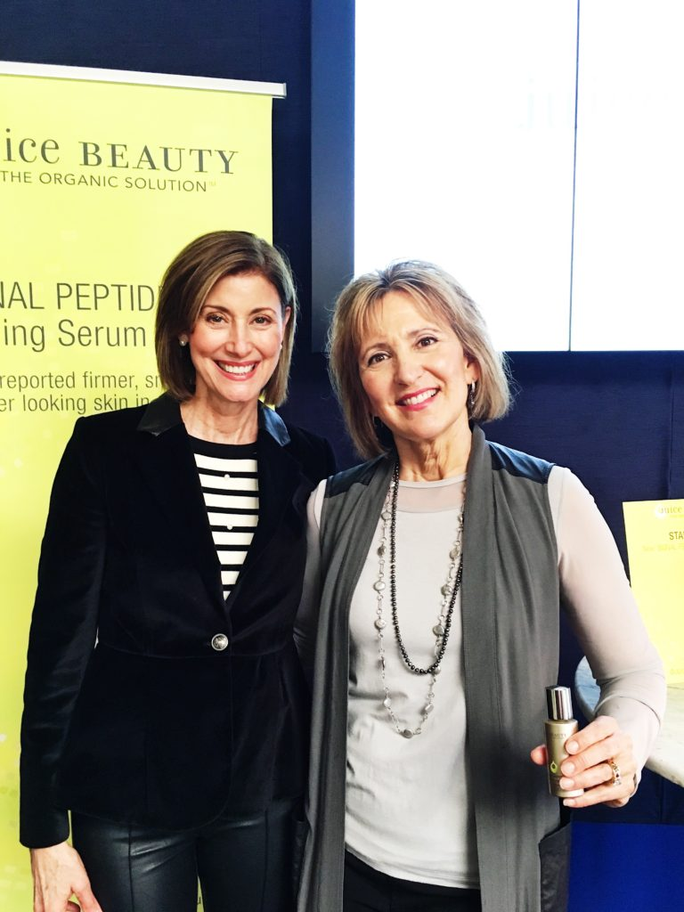 Fashionomics Debby Allbright with Juice Beauty Founder Karen Behnke.