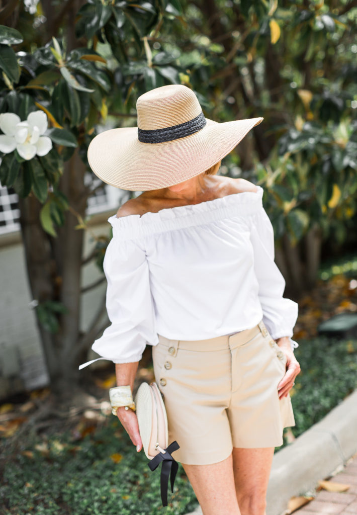 Fashionomics gives tips on wearing a sun hat to protect your face.