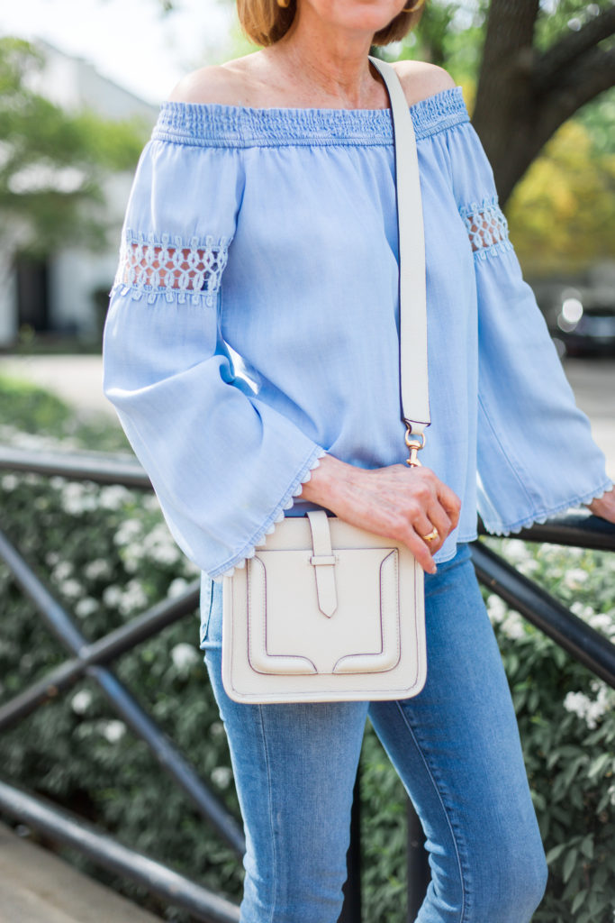 cross body bag, rebecca minkoff, white bag trend, fashionomics