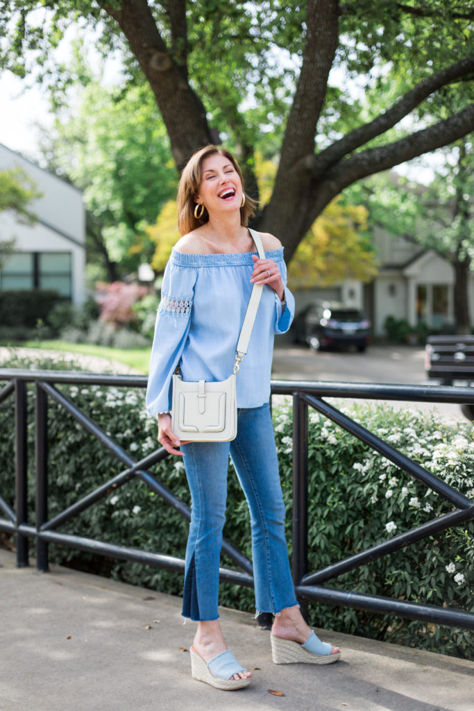 happy fashion trends, cinco de mayo, wedges, denim all over, cross body bags