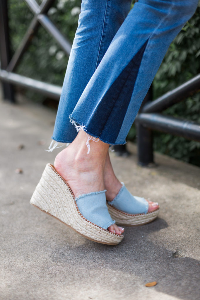 denim wedges, dolce vita, summer style, shoe trends