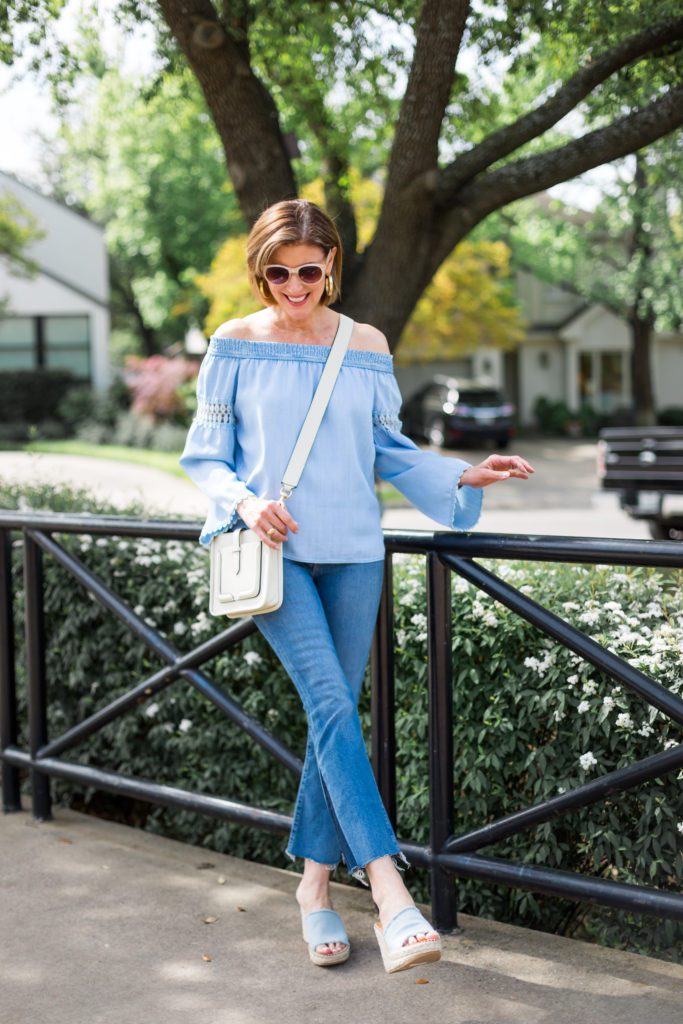 denim shoes, denim on denim, fashionista, dallas blogger