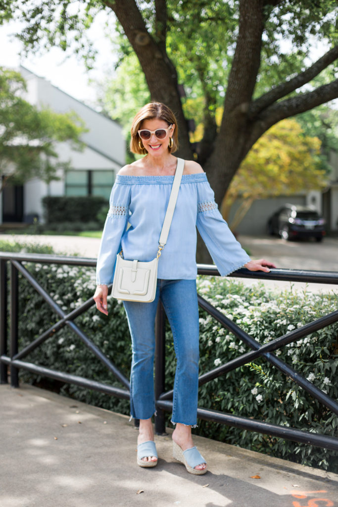 denim trends, fashionomics, over 50 blogger, dallas style