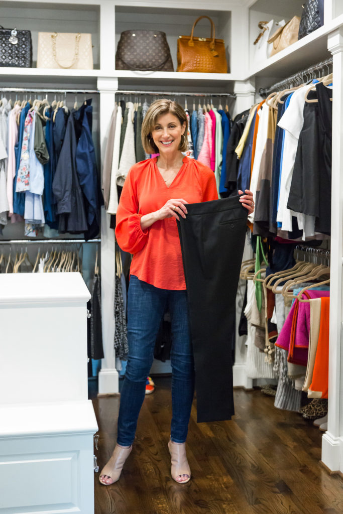 A basic black pant is always great to have in your closet for any occasion.