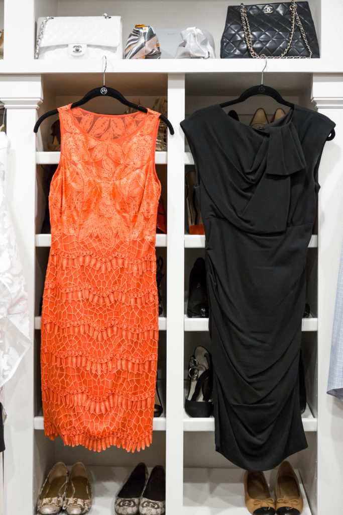 Evening and cocktail dresses, shoes and handbags are a must to complete your over 40 wardrobe.