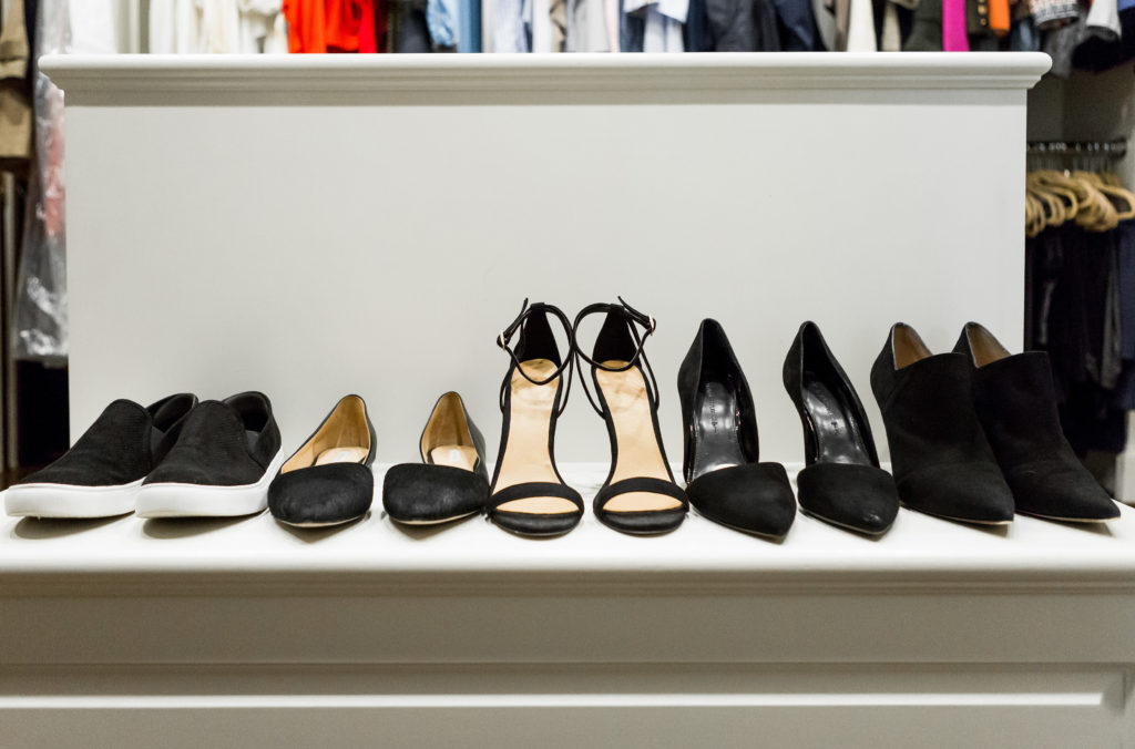Black shoes are basics for fashion models and bloggers