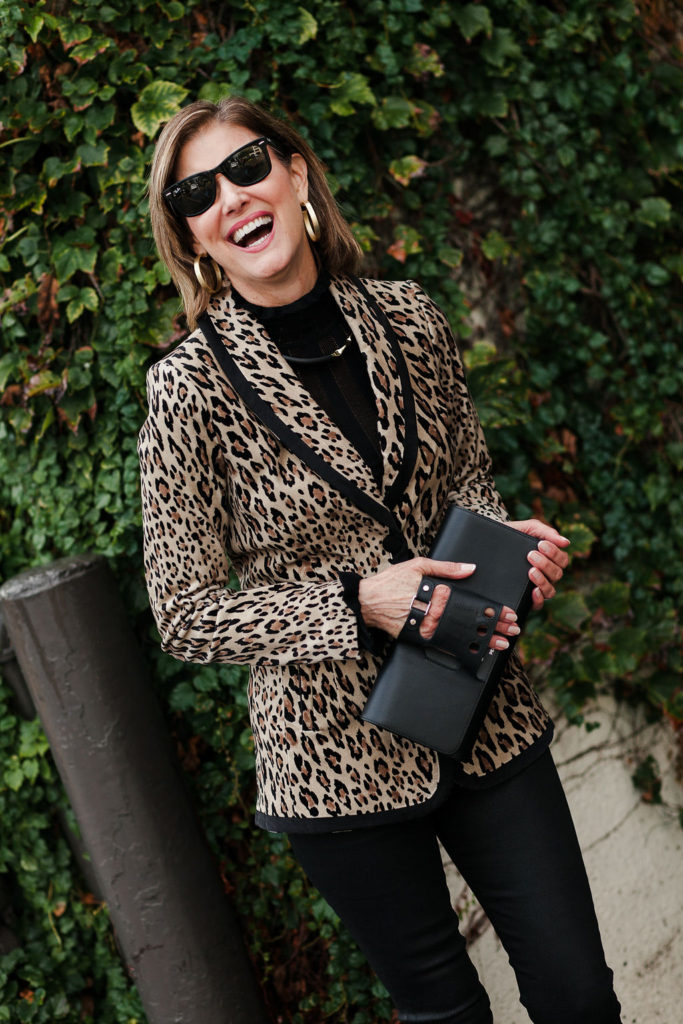 A leopard print blazer can update your wardrobe