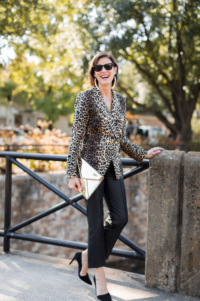 Can't have too much leopard for holiday dressing