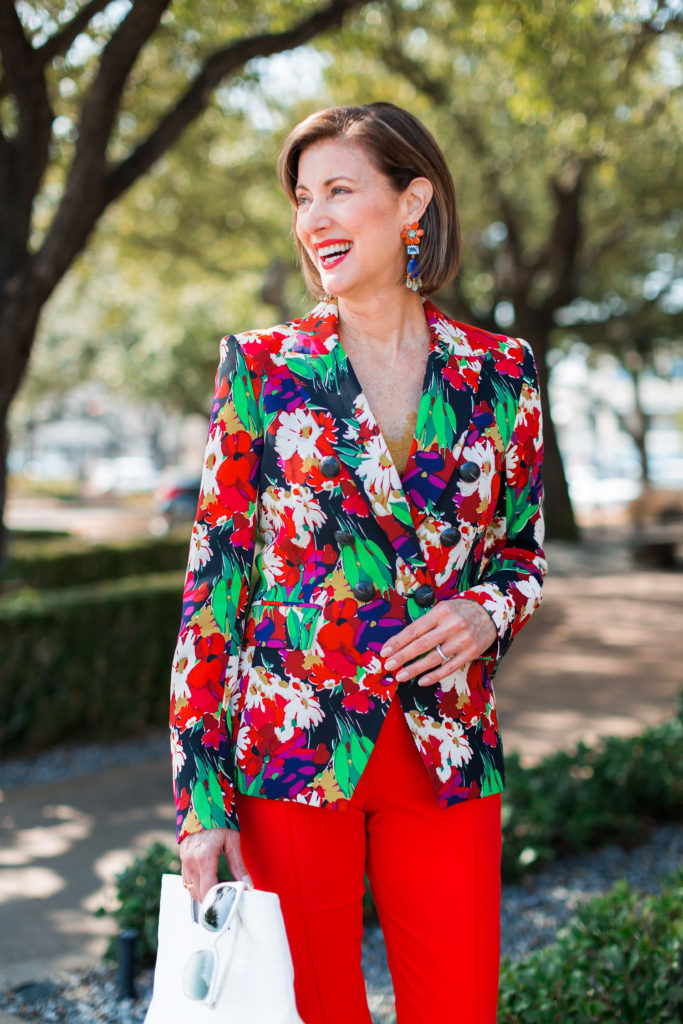 Bold-spring-trends with florals from Veronica Beard
