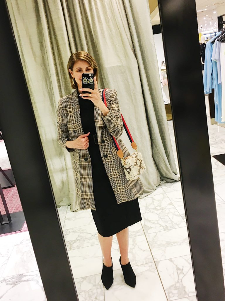 1 State plaid boyfriend blazer on Nordstrom Anniversary Sale
