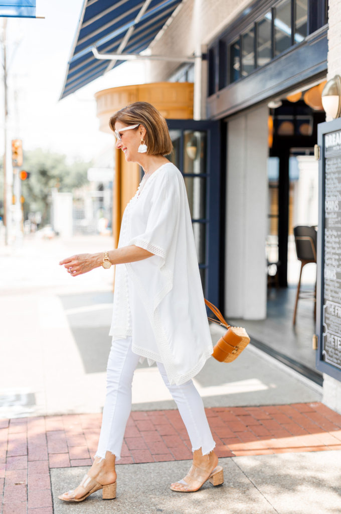 Traveling in all white for summer